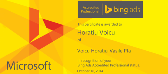 Certificare Bing pay-per-click advertising